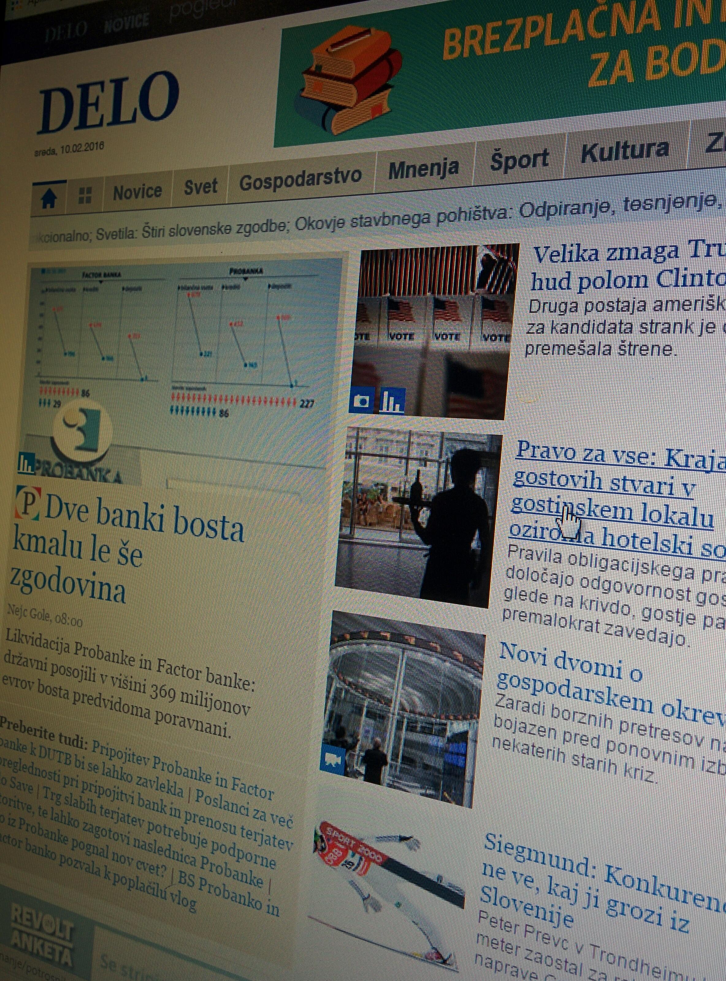 Nov članek na Delo.si