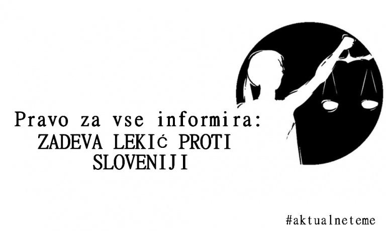 Zadeva Lekić proti Sloveniji
